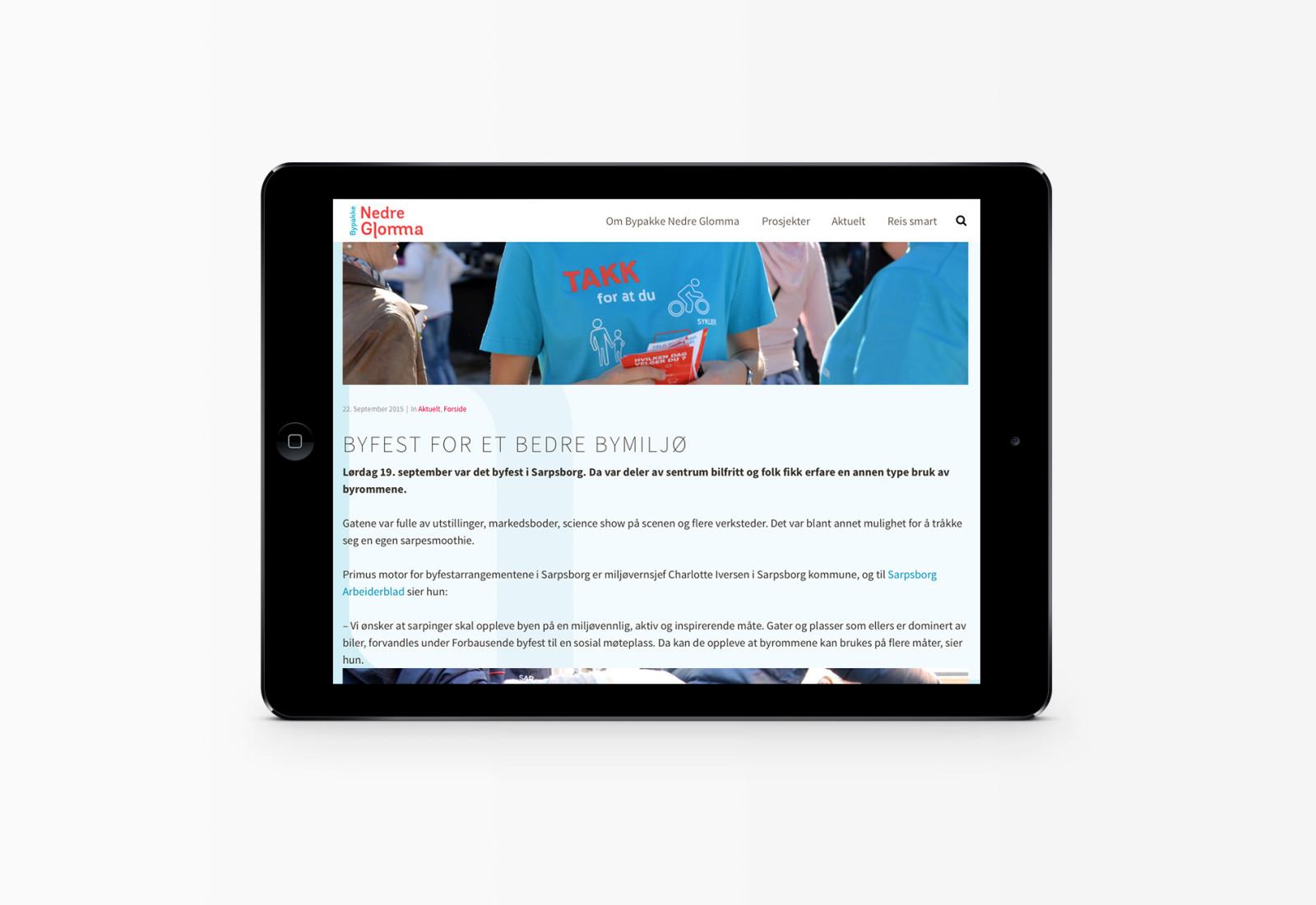 iPadbilde av bypakkenedreglomma.no