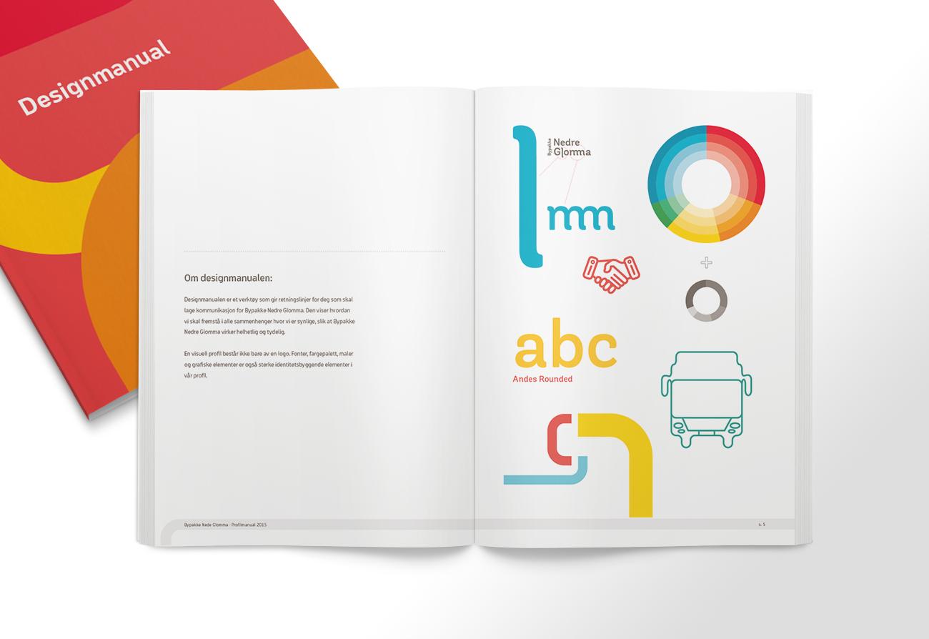 Designmanual oppslag Bypakke Nedre Glomma