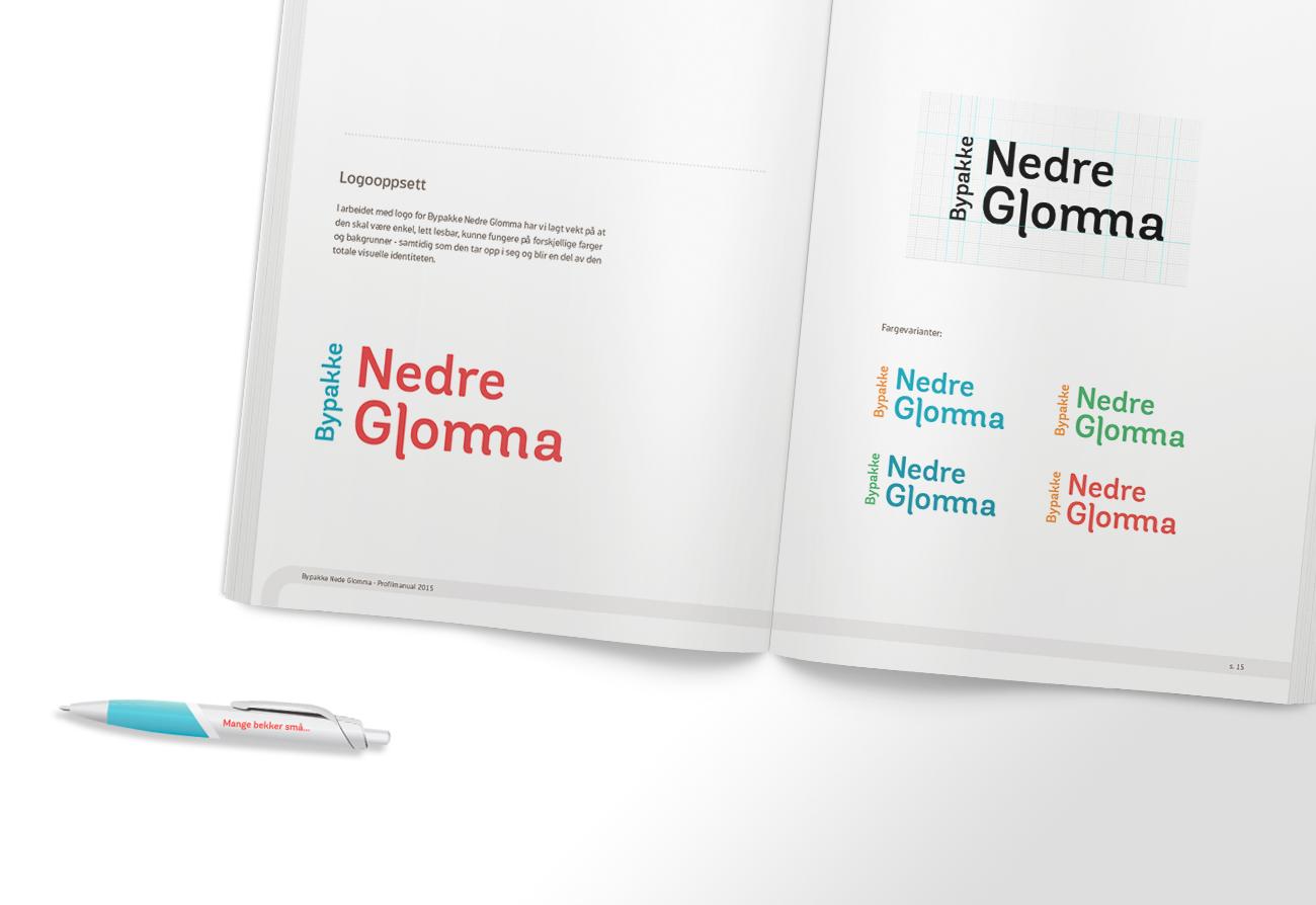 Designmanual oppslag og kulepenn