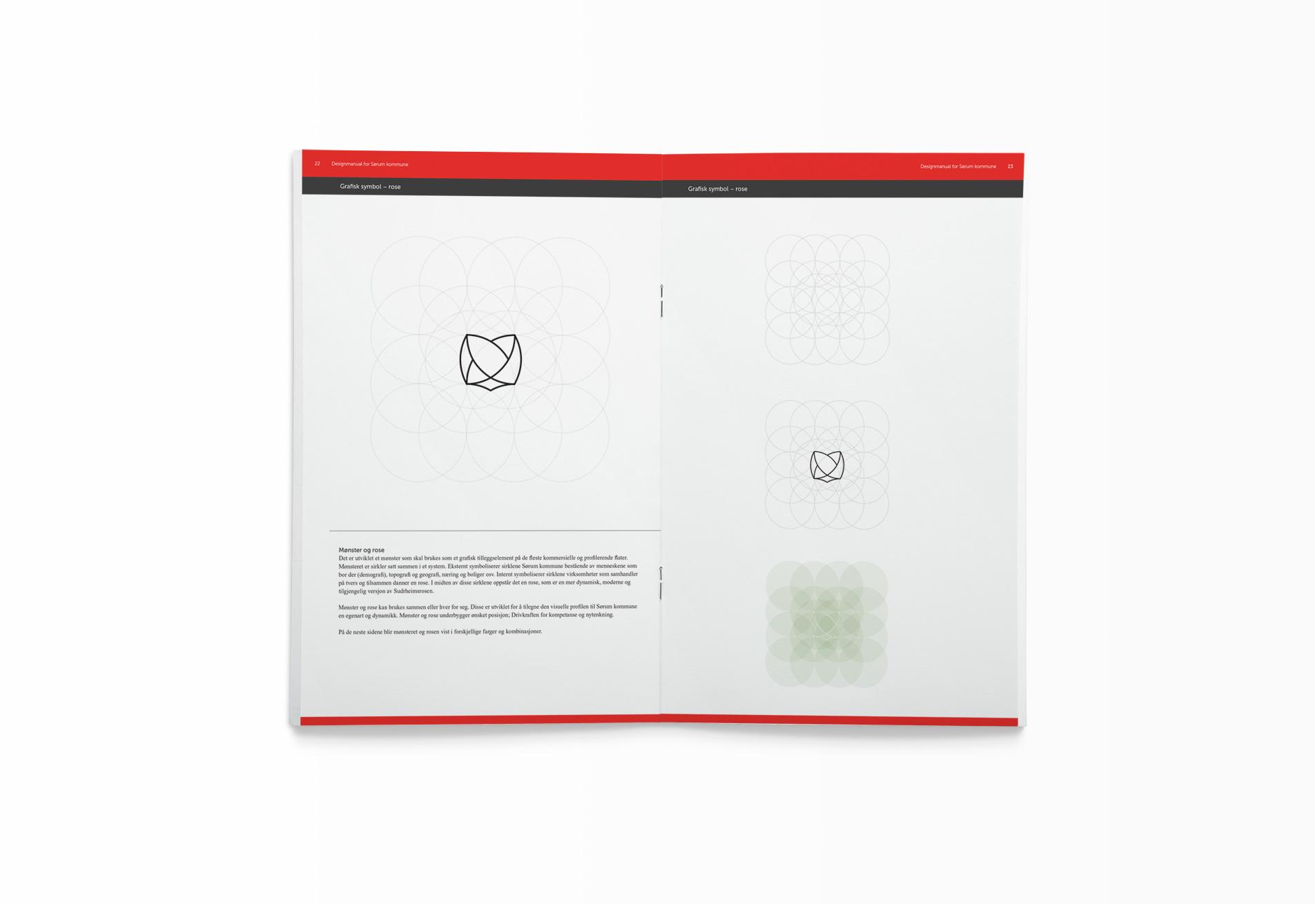 Oppslag fra Sørum kommunes designmanual