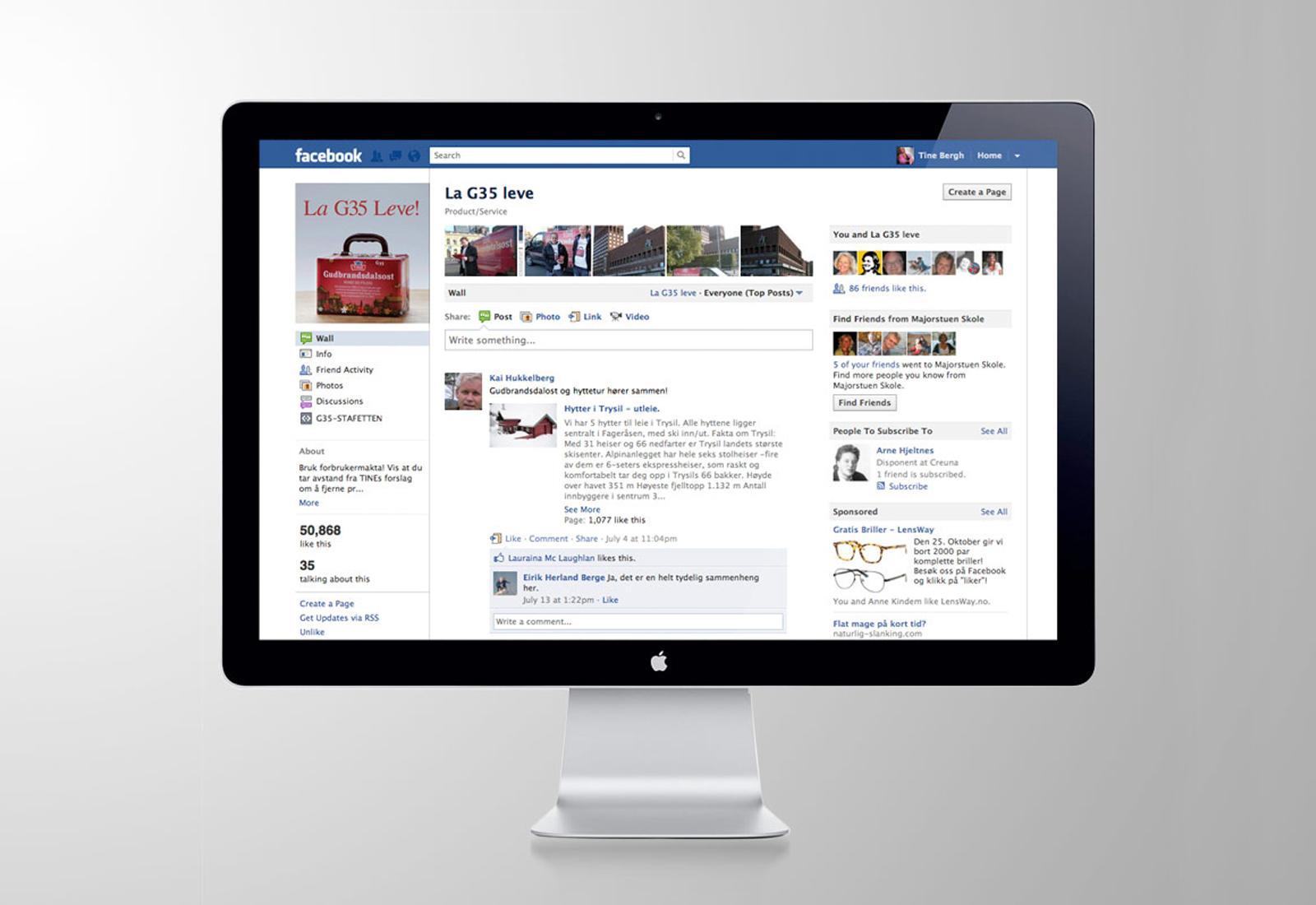 Desktopbilde av facebookaksjonen La G35 leve!