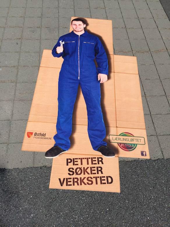 Bilde fra kampanjen: Østfolds største jobbintervju
