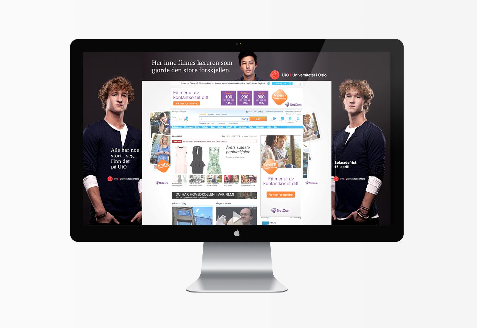 Desktopbilde av hesteskobanner på en webside